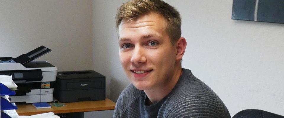 Thomas Giesbrecht hat seine Ausbildung als Industriekaufmann im Januar 2018 erfolgreich beendet